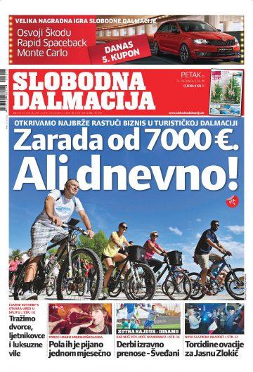 Slobodna Dalmacija - naslovnica