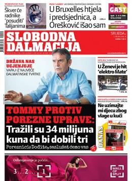 Slobodna Dalmacija (umirovljenički popust) - naslovnica