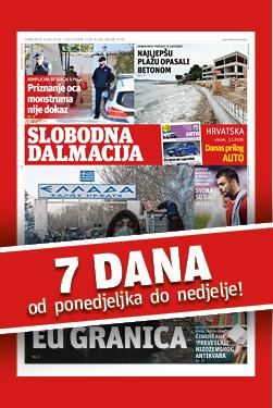 Slobodna Dalmacija od ponedjeljka do nedjelje bez ugovorne obveze! - naslovnica