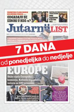 Jutarnji list od ponedjeljka do nedjelje bez ugovorne obveze! - naslovnica