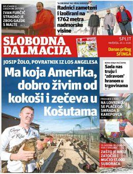 Slobodna Dalmacija (7 dana) - naslovnica