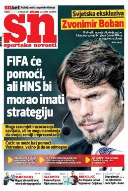 Sportske novosti - naslovnica