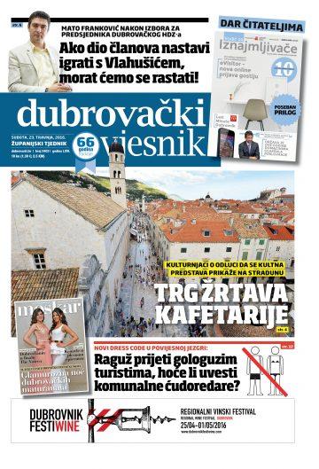 Dubrovački vjesnik - naslovnica