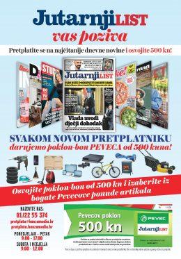 Jutarnji list + poklon PEVEC BON - naslovnica