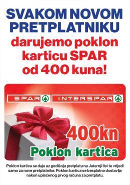 Jutarnji list + Spar poklon kartica - naslovnica