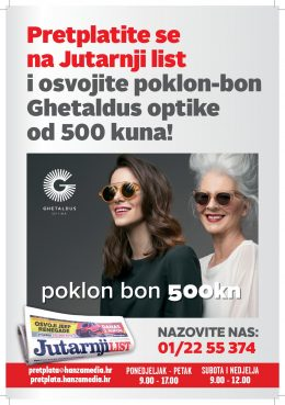 Jutarnji list + Ghetaldus poklon bon - naslovnica