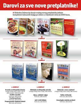 Slobodna Dalmacija + komplet knjiga - naslovnica