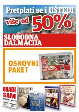 Slobodna Dalmacija – osnovni paket - naslovnica