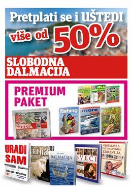 Slobodna Dalmacija – premium paket - naslovnica