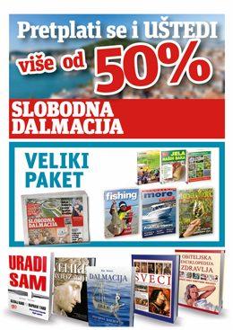 Slobodna Dalmacija – veliki paket - naslovnica