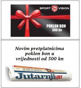 Jutarnji list + Sport vision bon 500 - naslovnica