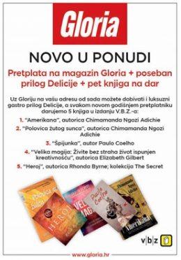 Gloria + Delicije + paket knjiga - naslovnica