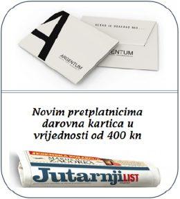 Jutarnji list + Argentum bon 400 - naslovnica