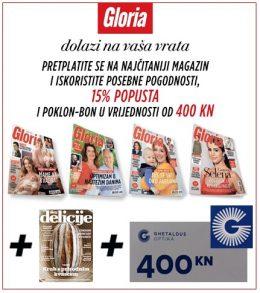 Gloria + Delicije + Ghetaldus bon 400 - naslovnica