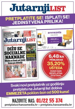 Jutranji list+Emmezeta bon 500 - naslovnica