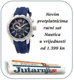 Jutarnji list + ručni sat Nautica - naslovnica