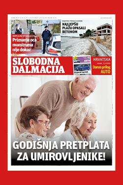 Slobodna Dalmacija za umirovljenike - naslovnica