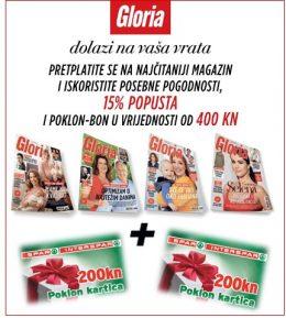 Gloria + poklon kartice Spar 400 kn - naslovnica