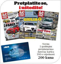Auto klub + INA darovna kartica - naslovnica
