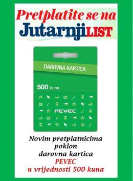 Jutarnji list + Pevec 500 kn - naslovnica