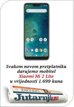 Jutarnji list + Xiaomi Mi A2 Lite - naslovnica