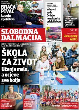 Slobodna Dalmacija – isprobaj pretplatu! - naslovnica