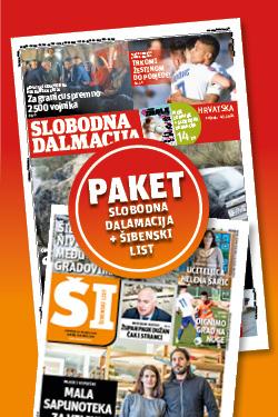 Slobodna Dalmacija + Šibenski list - naslovnica