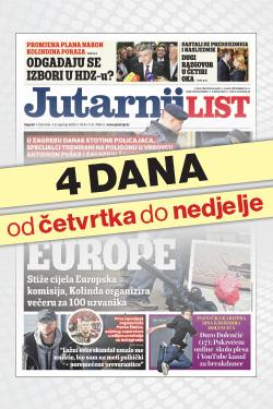 Jutarnji list od četvrtka do nedjelje! - naslovnica