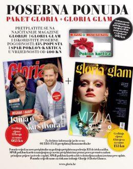 Godišnja pretplata na paket GLORIA + GLORIA GLAM uz SPAR poklon karticu! - naslovnica