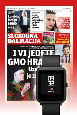 Godišnja pretplata na Slobodnu Dalmaciju uz poklon pametni sat Xiaomi Huami Amazfit Bip lite