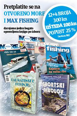 Godišnja pretplata na paket OTVORENO MORE I MAX FISHING