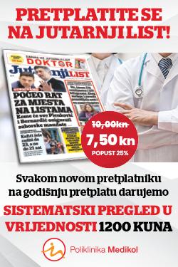 Godišnja pretplata na Jutarnji list uz poklon sistematski pregled Poliklinke Medikol - naslovnica