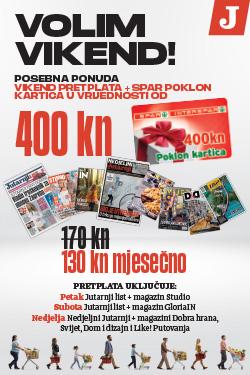 Vikend pretplata na Jutarnji list uz Spar poklon karticu