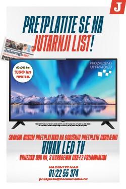 Godišnja pretplata na Jutarnji list uz poklon VIVAX LED TV