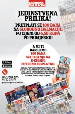 Slobodna Dalmacija 100 dana - naslovnica