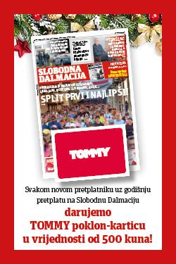 Godišnja pretplata na Slobodnu Dalmaciju uz poklon TOMMY KARTICU