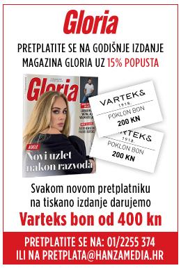 Pretplata na Gloriu uz poklon bon Varteks u vrijednosti 400 kn!